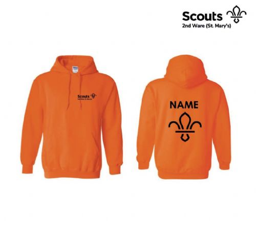 2nd Ware Scouts Orange Hoodie